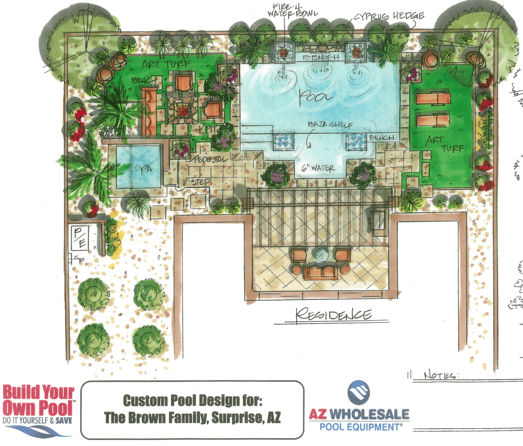 View Our Pool Drawing Gallery Build Your Own Pool