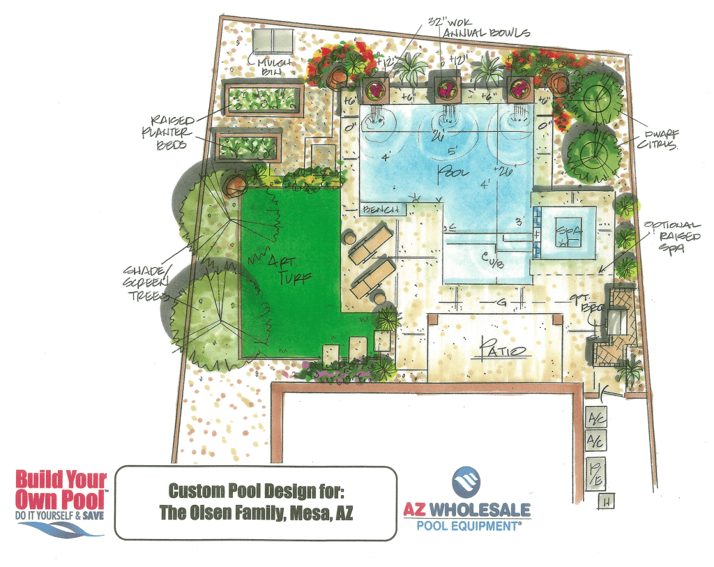 View our pool drawing gallery build your own pool for Pool design drawings