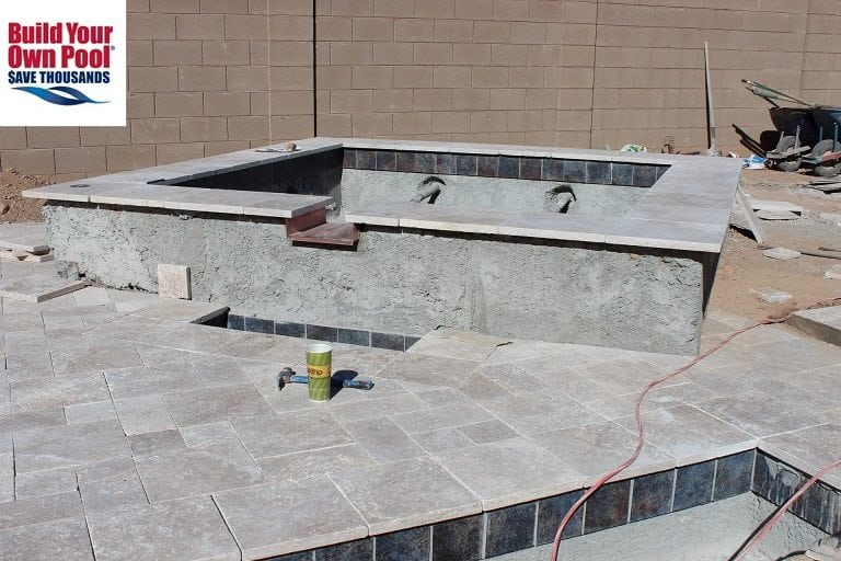 A view of a beautiful pool patio surface for a family in Austin, Texas.