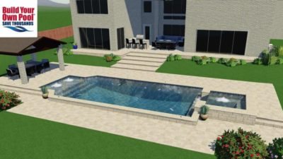 Madugula family located in Dallas, Texas. 3D swimming pool design.